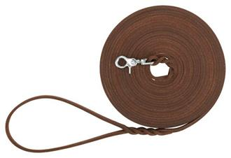 Rustic fatleather tracking leash, 10 m/8 mm, dark brown